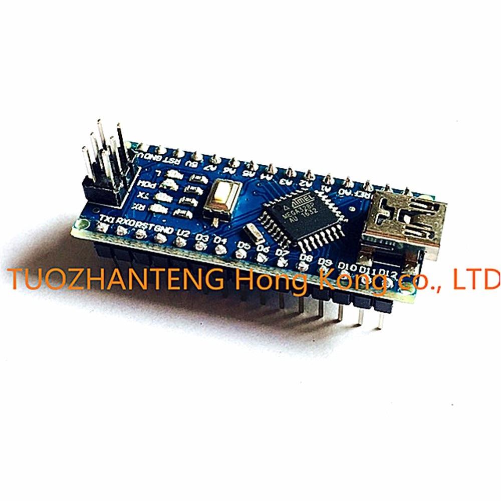 Freeshipping 10PCS Nano 3.0 controller compatible with arduino nano CH340 USB driver NO CABLE NANO V3.0