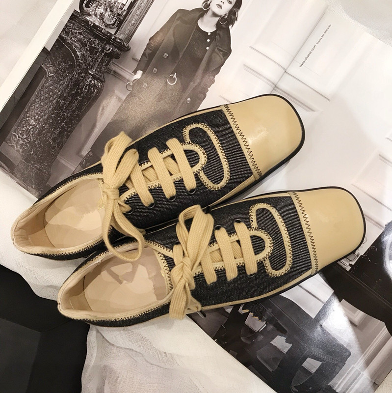 zapatos de mujer 2018 Shoes Woman Flats Lace-up Denim Cross-tied Square Toes Flats Woman tenis feminino zapatos de mujerzapatos de mujer 2018 Shoes Woman Flats Lace-up Denim Cross-tied Square Toes Flats Woman tenis feminino zapatos de mujer