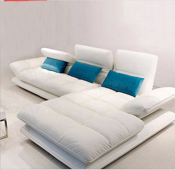 Living Room Sofa Set Corner Sofa Recliner Backrest Functional Genuine Leather Sectional Sofas Muebles De Sala Moveis Para Casa