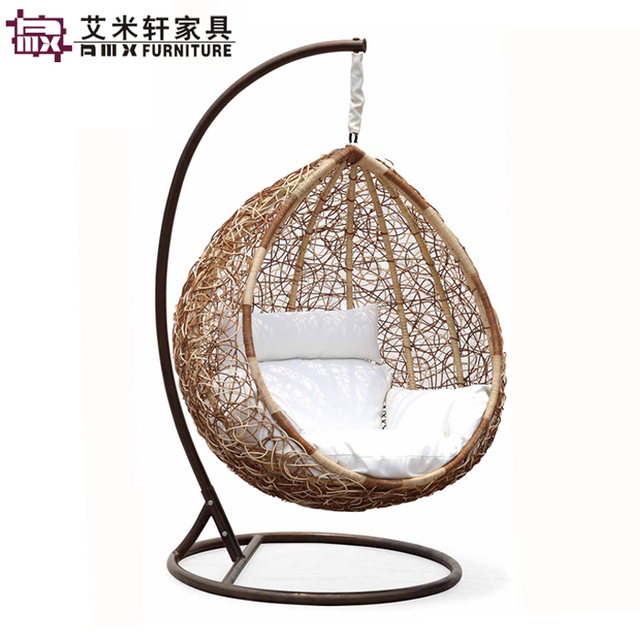 Sessel hangend for Rattan schaukelstuhl gebraucht
