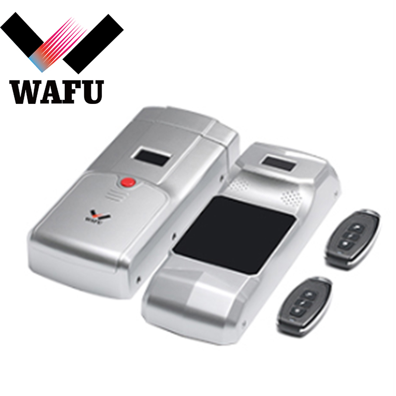 WAFU Keyless Entry Electronic Remote Indoor Touched Fingerprint Smart Door Lock Wireless 433mHZ Invisible Intelligent Lock Coder|Electric Lock| |  - title=