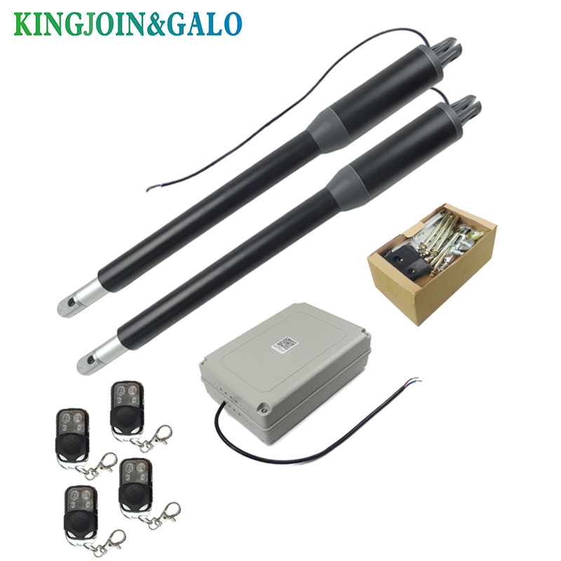 Image 4 - Free shipping Water proof Automatic Swing gate opener C05 Electric Linear Actuator Double arms swing gate motor kit-in Access Control Kits from Security & Protection