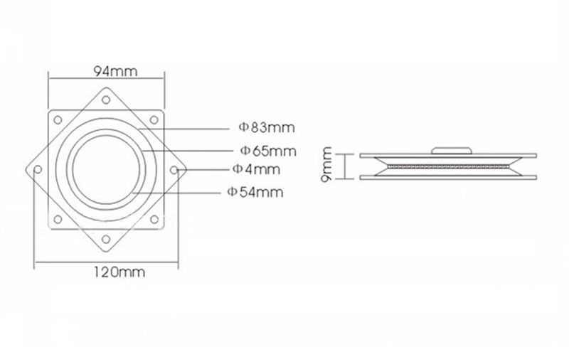 Nova Montagem 4 ''Pequena Exposição Turntable Placa Giratória Rolamento Lazy Susan! ótimo Para Projetos Mecânicos!