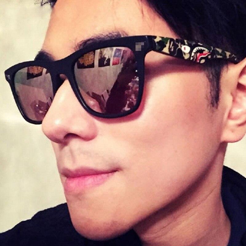 Mirror Lens Camouflage PC Frame Square Sunglasses Women Men Brand Designer UV400 Shades oculos de sol feminino
