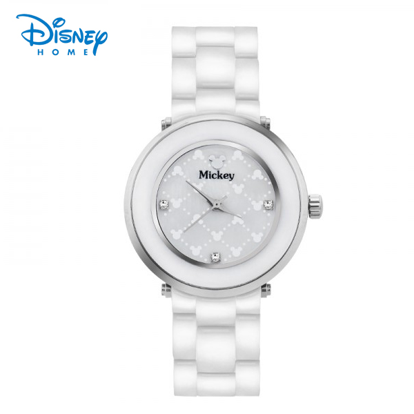 100% Genuine Disney Luxury watch Ladies Bracelet Watch Women Stainless Steel watch with Diamond Quartz-watch Reloj 87901