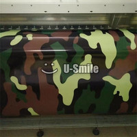 Military Jungle Large Camouflage Vinyl Car Body Film Wrap Sticker Bubble Free For JEEP SUV TRUCK