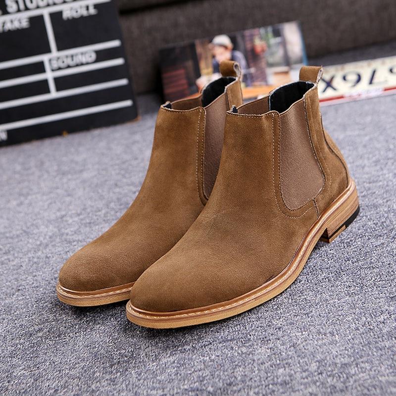 s luxury brand vintage genuine leather chelsea boots