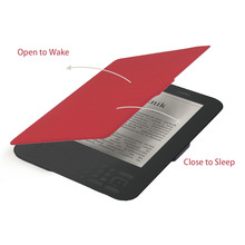 Portable Size Super Slim Magnetic PU Leather Protective Cover Case Suitable For Kindle 6 Inch E-Reader Wholesale