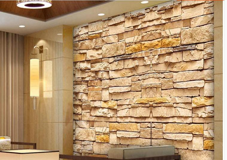 Customize size High Quickly HD mural 3d wallpaper personality brick ...