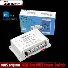 Sonoff 4CH Pro Maison Intelligente 433 MHz RF Wifi Interrupteur de Lumière 4 Gang 3 Modes de Travail Inching Verrouillage Wifi Interrupteur Travail Avec Alexa