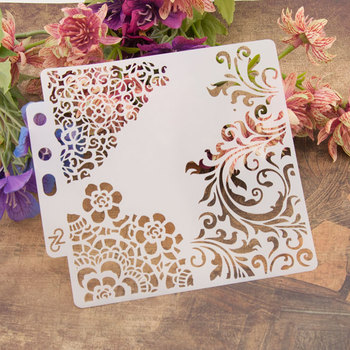 "13cm 5.1"" Flower Edge DIY Layering Stencils Wall Painting Scrapbook Coloring Embossing Album Decorative Paper Card Template"
