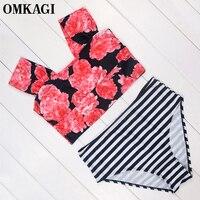 OMKAGI Brand Bikinis Set Sexy Swimwear Women Swimsuit Plus Size Bikini Push Up Bathing Suit Beachwear