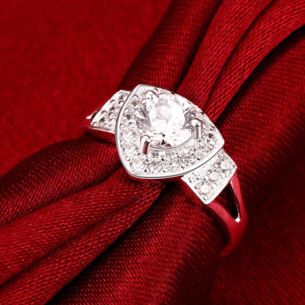 Conic Shield Shape Large Stone Crystal Female Rings Jewelry Women