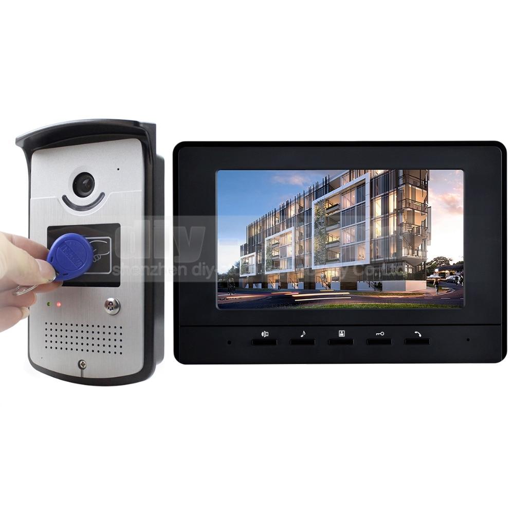 NºDIYKIT 7 inch Wired Video Door Phone Doorbell Home Security ...