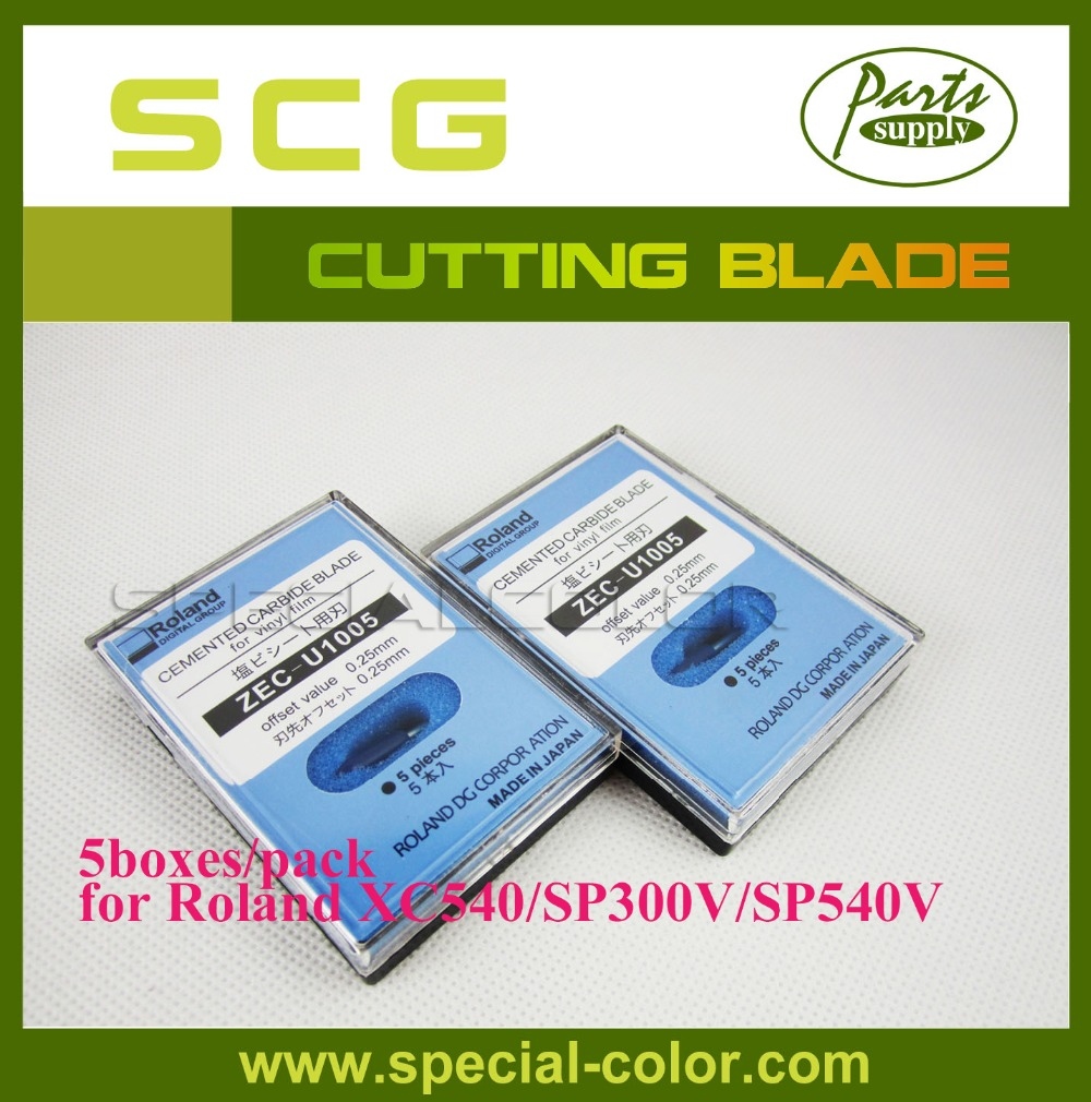 5 boxes/pack Roland XC540 Printer Cutting Blade for ZEC-U1005 SP-540V / VP-300 / VP-540 Cutting Plotter (45 Degrees)