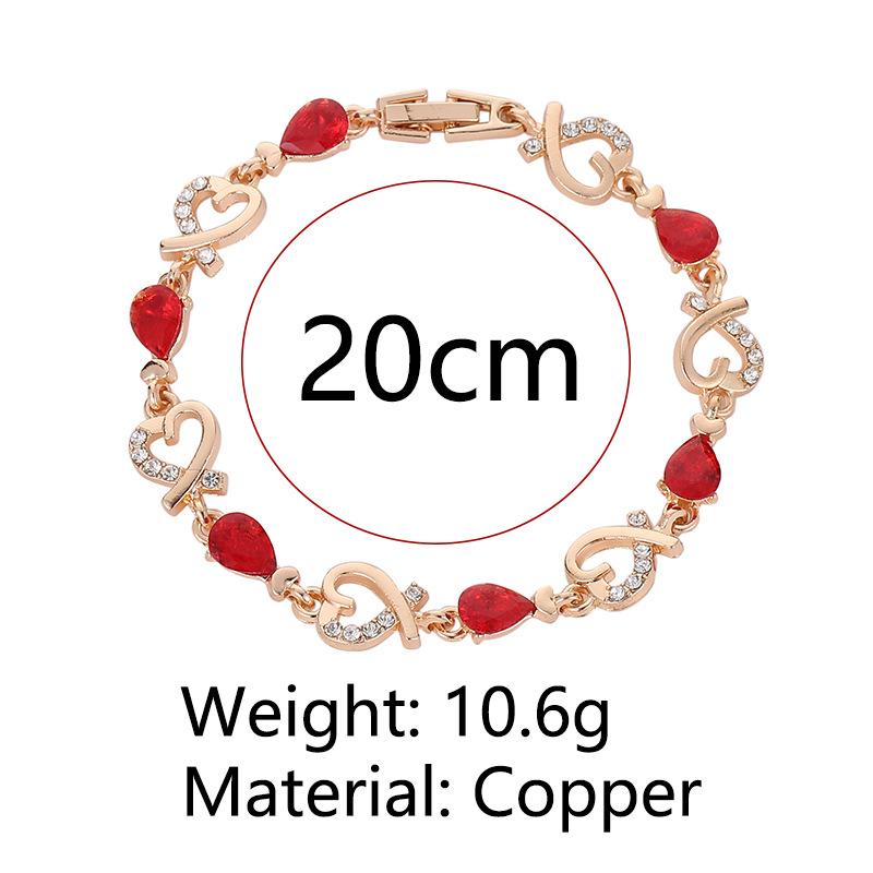 Модные золотистые хрустальные браслеты с цепочкой полые в форме