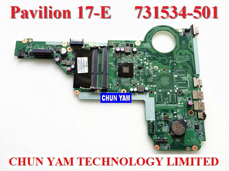 NEW LAPTOP NOTEBOOK MOTHERBOARD SYSTEM BOARD 731534-501 FOR HP PAVILION 15 17 15-E 17-E AMD A4-5000M SERIES 90DAYS WARRANTY