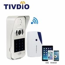 TIVDIO T-10D Video Door Phone Intercom System WiFi Wireless Door Bell Smart Home Doorbell For Apartment IR Vision Night F9502D