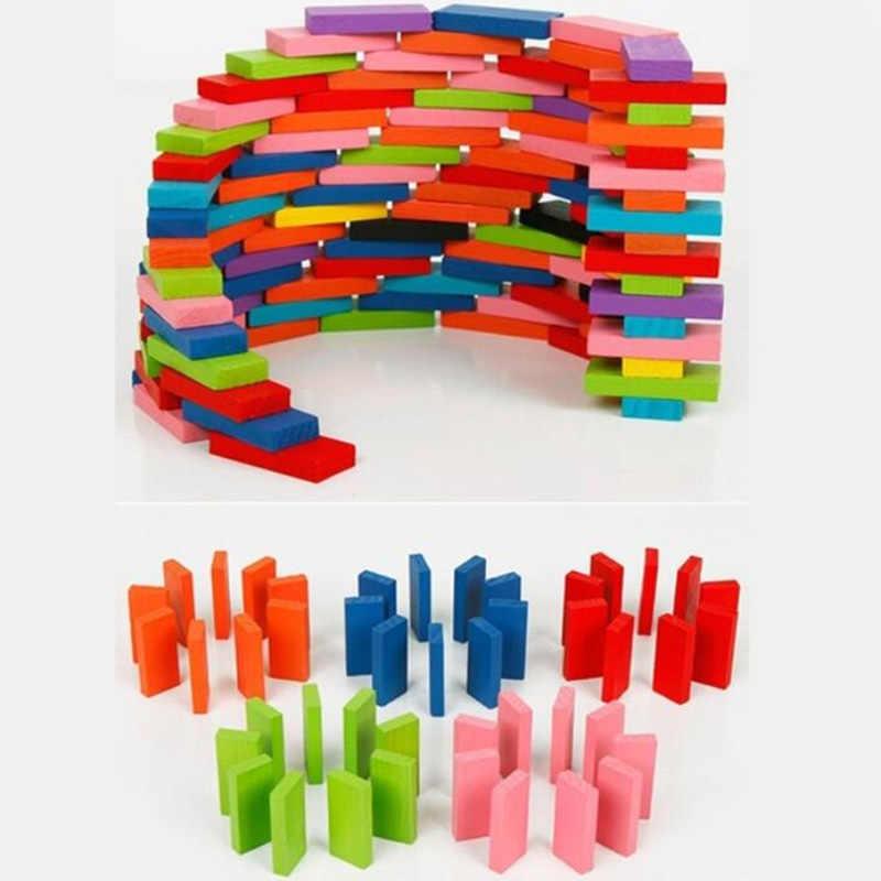 2018 горячая Распродажа 120 шт. в партии настольная игра для детей подарок деревянное Домино Набор Живопись детские игрушки, деревянные игрушки домино