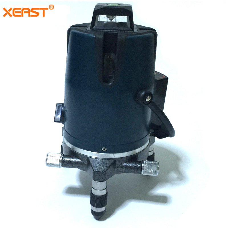 XEAST XE-17A nowy poziomica z czerwonym laserem 8 linii tilt tryb samopoziomujący obrotowy krzyż czerwona wiązka ziemi poziom lasera