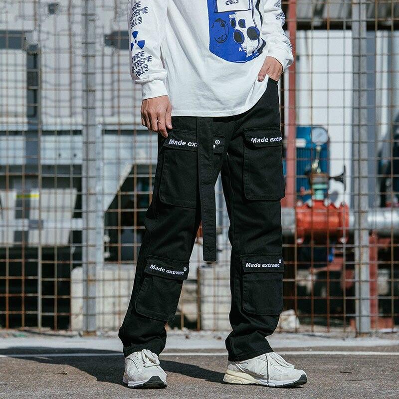 male streetwear dance pants men high street fashion hip hop casual cargo pant with belt harem. Black Bedroom Furniture Sets. Home Design Ideas