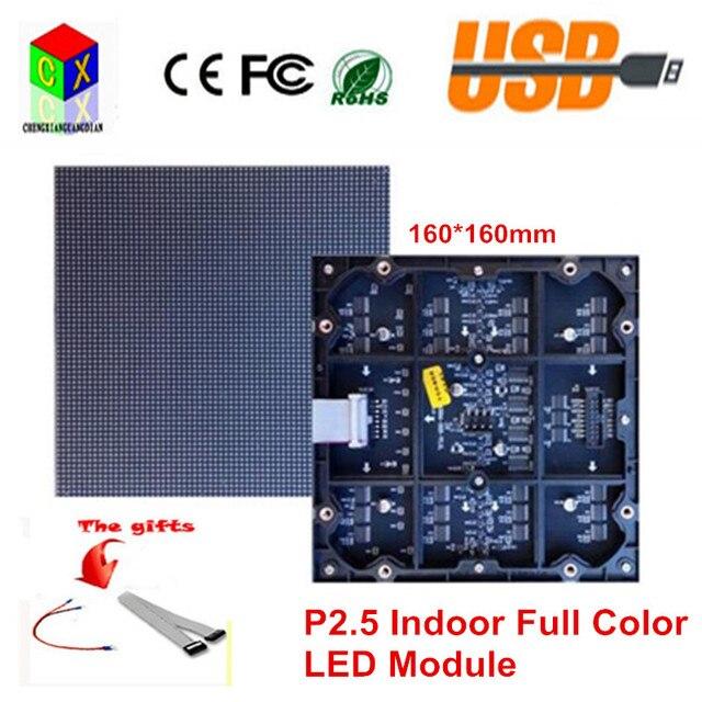 P2.5 SMD из светодиодов модуль крытый полноцветный 160 мм * 160 мм 64 * 64 пикселей 1/32 сканирования rgb 7 видео высокого разрешения из светодиодов экран