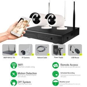 Image 3 - 4CH Wifi Cctv systeem Draadloze Nvr Kit 2 Stuks 960P Hd Ip Camera 1.3MP Outdoor Waterdichte Home Security Surveillance systeem