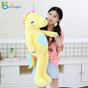 Image 4 - 1pc 60 160cm Kawaii Rainbow Unicorn Plush Toys Stuffed Animal Horse Plush Doll for Children Kids Appease Toy Gift for Girls