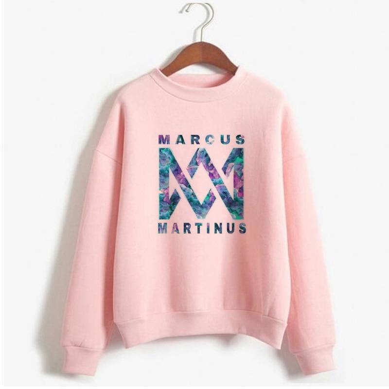 Kpop Bts femmes sweats Marcus et Martinus sweats à capuche vêtements à manches longues pull polaire chaud col rond sweat manteaux