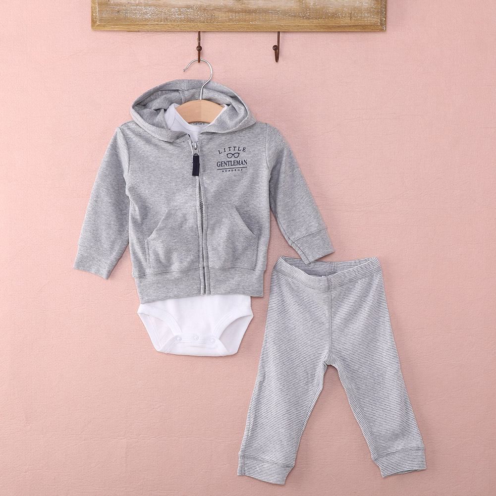 BABY BOY/'S 2 PIECE HOODED JUMPER /& TROUSER SETS SIZE 0-3 3-6 /& 6-9 MONTHS