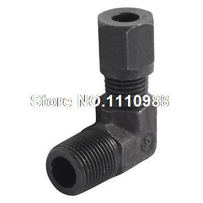 3/8 PT Male Thread to 8mm Pipe Tube L Shape Elbow Quick Coupler Fitting 5 pcs 5mm male thread m5 0 8 to 4mm od tube l shape pneumatic fitting elbow quick fittings air connectors