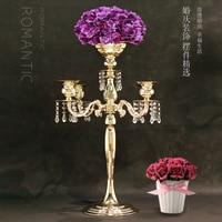 H75cm * W48cm, Metal Candelabra Candle Holder wedding Centerpiece flower Vase Candlestick wedding candelabrum