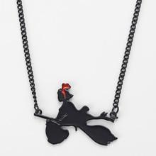 Miyazaki Anime Kiki's Delivery Service Figure Necklace Hayao Miyazaki Comic Kiki Pendant Cosplay Jewelry Girls Birthday Gift недорого