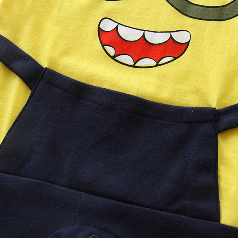 Baby boy girls minions newborn summer Cotton cartoon halloween Jumpsuit toddler costume