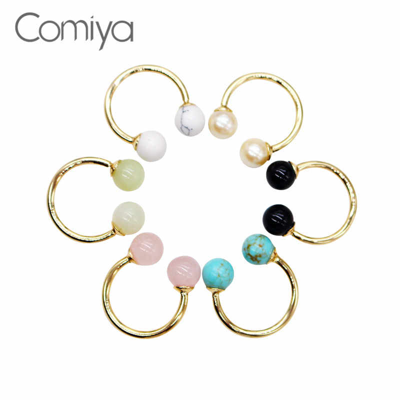 Comiya Fashion New Rings For Women Opening Party Ring Vintage Anillos Bague Femme Natural Stone Mosaic Online Shopping Indian