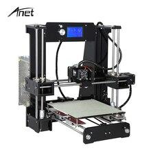 Анет A6 алюминия очаг 3D-принтеры большой принт Размеры RepRap Prusa i3 DIY 3D-принтеры набор с подарком нити 16 ГБ SD карты Инструменты