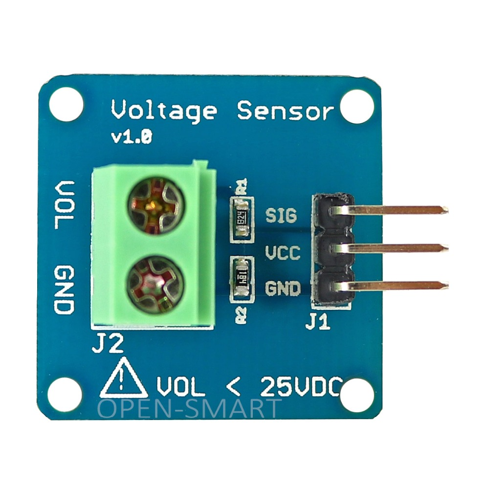 High Accuracy DC Voltage Sensor Module Voltage Detector Voltage Divider Detection Module For Arduino