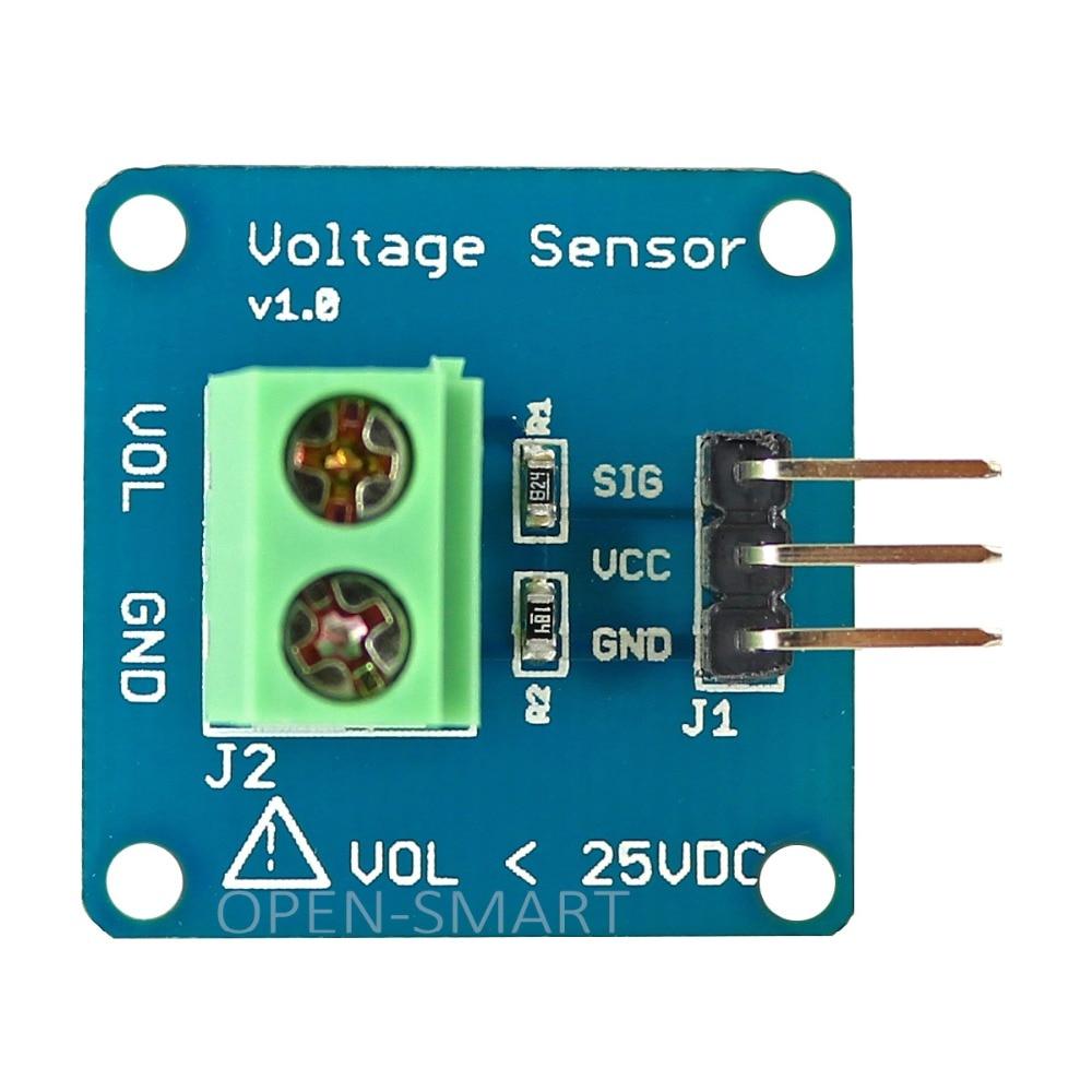 Высокая Точность DC напряжение сенсор модуль напряжение Детектор напряжение делитель модуль обнаружения для Arduino