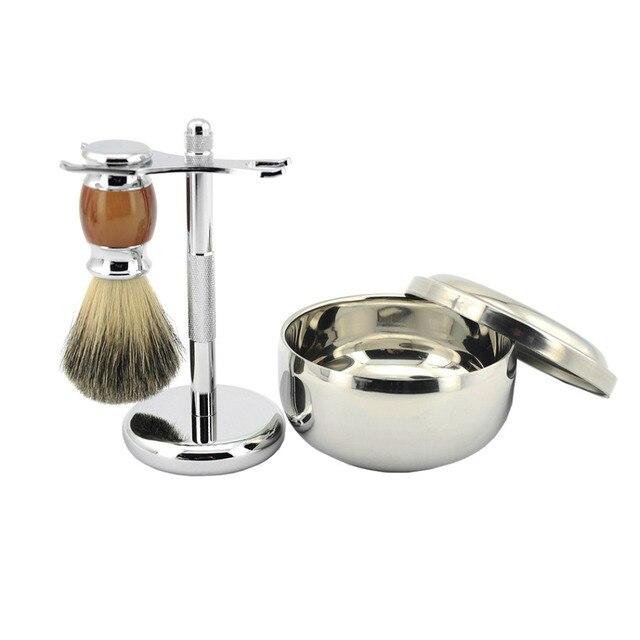 Zy 3pcsset Best Badger Shaving Brush Shaving Soap Mug Bowl