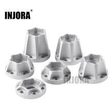 INJORA 2 шт алюминиевый сплав 12 мм Шестигранная Ступица колеса для 1/10 RC Гусеничный 1,9 2,2 обод колеса осевой SCX10 Traxxas TRX4 D90