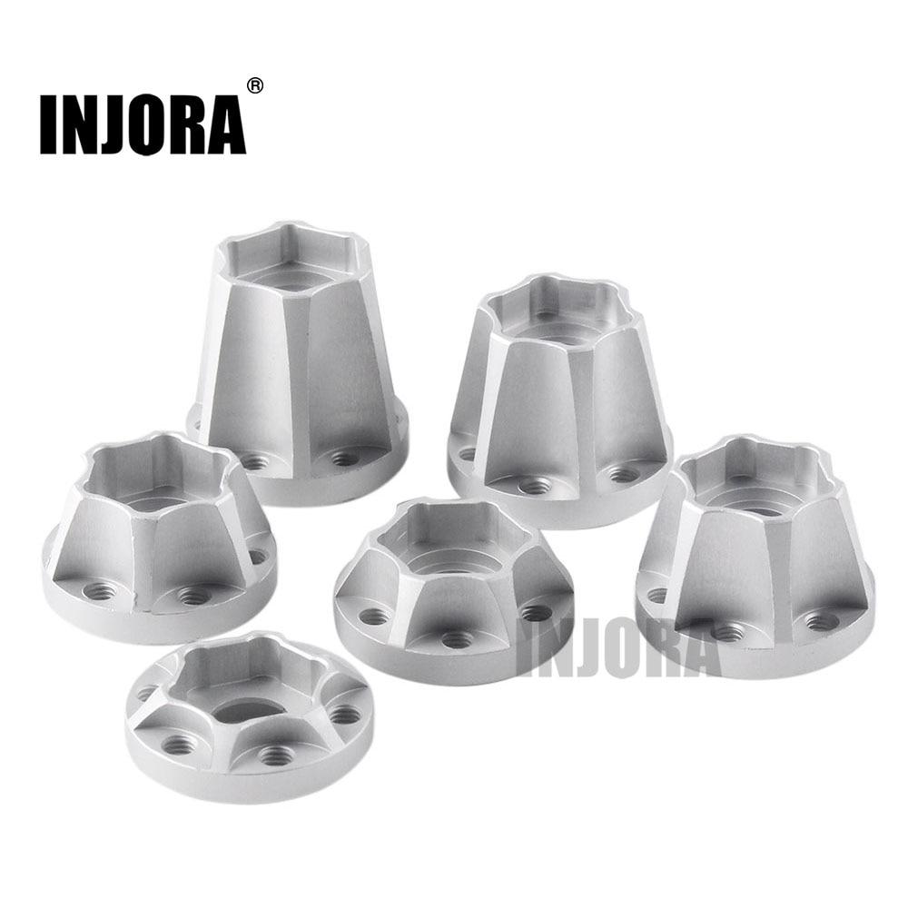 INJORA 2PCS Aluminum Alloy 12mm Wheel Hex Hub For 1/10 RC Crawler 1.9 2.2 Wheel Rim Axial SCX10 Traxxas TRX4 D90
