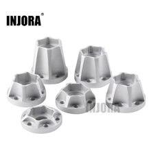 Hub hexagonal de roda de liga de alumínio, 2 peças, cubo hexagonal de roda de 12mm para 1/10 rc crawler 1.9 2.2, aro de roda, axial scx10 traxxas trx4 d90