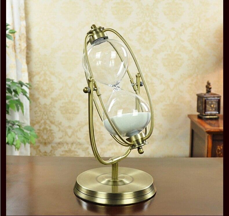 Pivotant en laiton couleur métal sable fin 30 Min sablier en verre sablier horloge sablier Arts et artisanat étude chambre bureau bureau décor