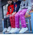 2016 зима новый младенца способа мальчики девочки брюки теплые дети вниз брюки девушки леггинсы детской одежды 18 М-10 Т