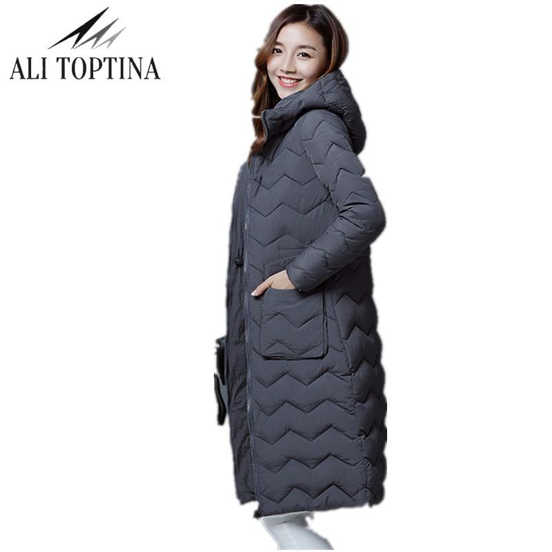 2017 New Winter Jacket Women Hooded Thicken Coat Female Warm Outwear Down Cotton-Padded Long Wadded Jacket Coat Parka Mf54 цена и фото