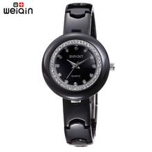 WEIQIN Original Vestido de Relojes de Alta Calidad Para Las Mujeres de Oficina de Negocios Dama Elegante Reloj de Cristal de Diamante Reloj de Moda de Mujer