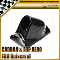 Car Accessories Carbon Fiber Universal Single Gauge Pod 60mm Glossy Fibre Universal Fit Interior Dash Cover Racing Dial Trim