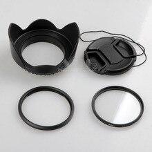 Cámara adaptador de lente fa-dc58a para canon sx520 hs sx60 sx50 a 58mm adaptador + Lente Cap + Parasol + Filtro UV 58mm Accesorios