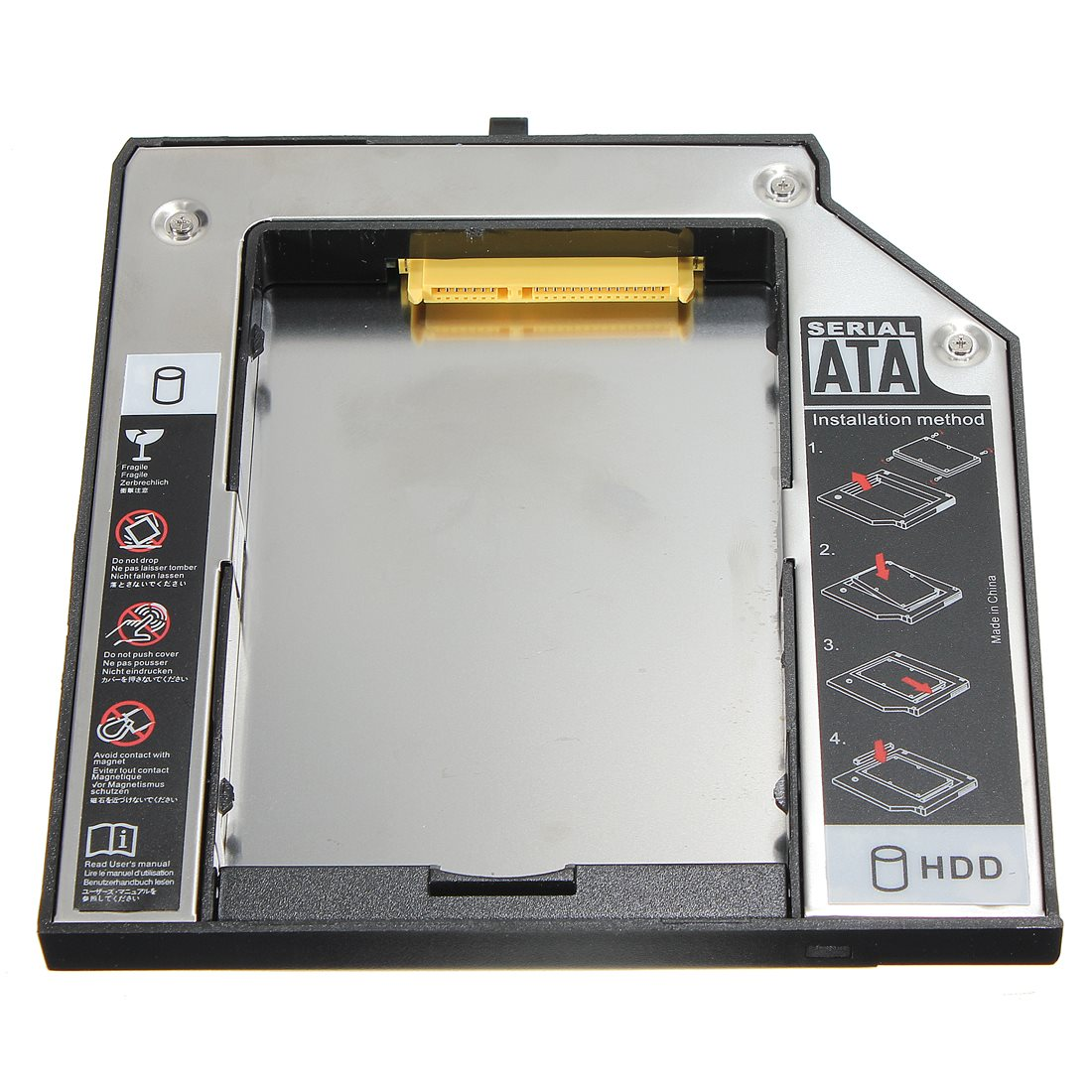 New Arrival Second SATA Hard Drive Adapter Bay Caddy For LENOVO For Thinkpad T420 T520 W520 12.7mm Laptop DIY HDD Enclosure