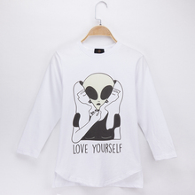 2019 New Children Clothing Kids Funny T Shirts Alien Design 100% Cotton Boy Long Sleeve Tshirt Baby Girls Tops Baby-Girl-Clothes silly monkey baby girls clothes 2016 brand new children t shirts long sleeve cute bebe clothing girl tees blouses kids tops